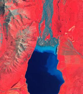 Lake Tekapo false colour