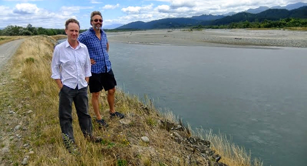 Peter and Scott at braided river
