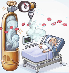 oxygen use in ICUs