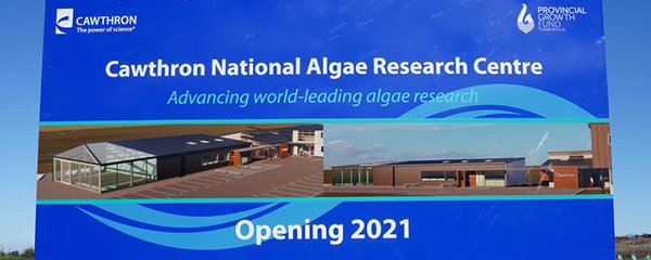 National Algae Research Centre sign