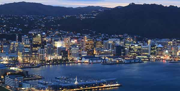 Wellington at night
