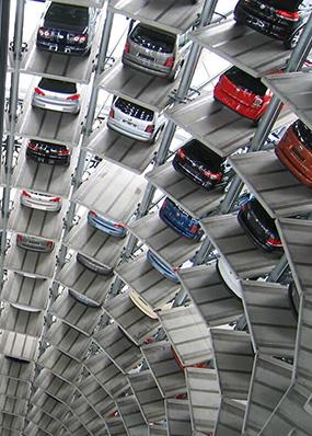 steel-framed carpark