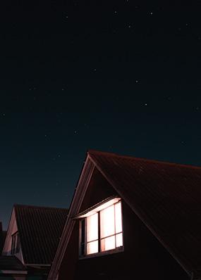 house lights at night
